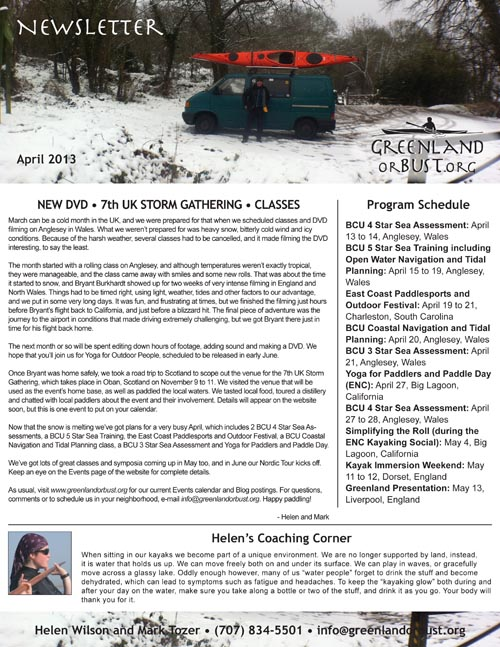 G or B Newsletter - April small