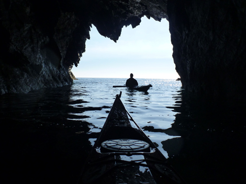 The view from a sea cave.