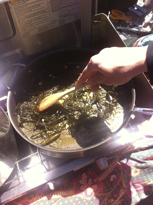 Seaweed stir fry.