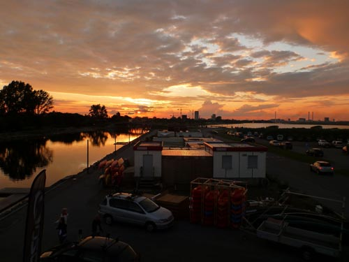 A gorgeous Mid-Summer sunset viewed from the roof of Kajakhotellet.