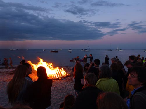 And a bonfire on the beach.
