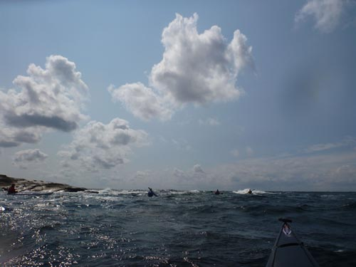 The wind provided perfect conditions for a BCU 3 Star Sea Assessment.