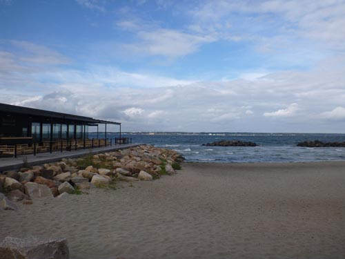 Helsingborg has a wonderful sandy beach, with great views of Denmark in the distance.