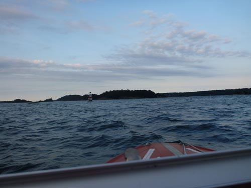 The ride to Sandhamn.