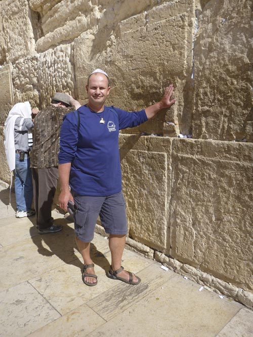 Mark experiences the energy of the Western Wall.