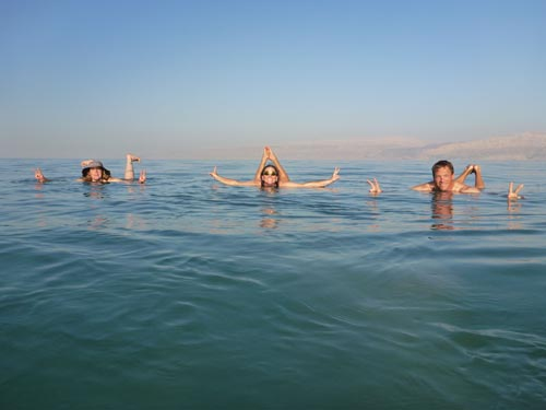 Floating in the Dead Sea is an unusual (and very relaxing) experience.