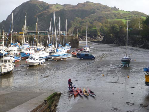 Tides in England can be more extreme than what I'm used to in California.