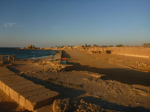 The ancient town of Caesarea is very close by.