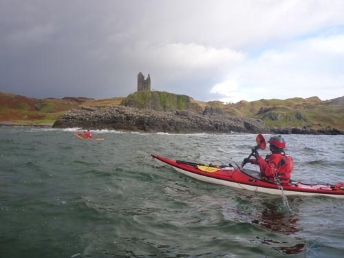 Paddling past castles was also common.