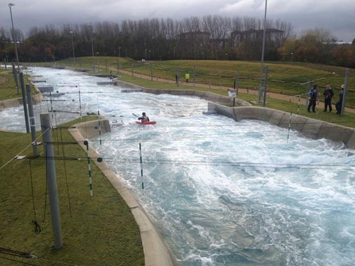 The Lee Valley White Water Centre.
