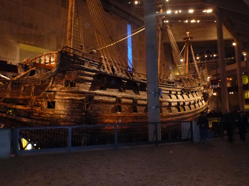A very impressive ship called the Vasa, which sank during its maiden voyage in  1628.