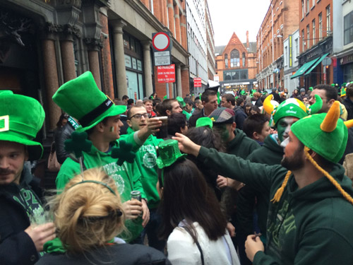 Saint Patrick's Day in Dublin.