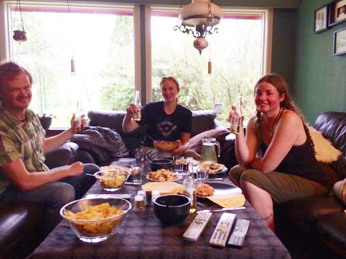 Our last night with Geir Ingolf and Ingeborg we cooked up a tasty Mexican meal.