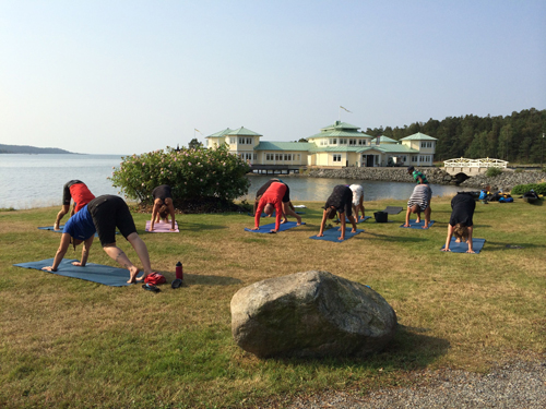 I ran Yoga for Paddlers for the kayakers and guests at the hotel.