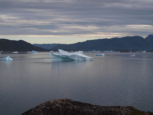 Watching icebergs from shore can be fun, especially when they put on a show by rolling or shedding smaller bergs.