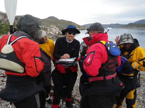 Every team member had the opportunity to plan part of the route. Here Jack tells the group the plan.