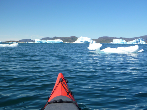 Paddling amongst ice is a magical experience.