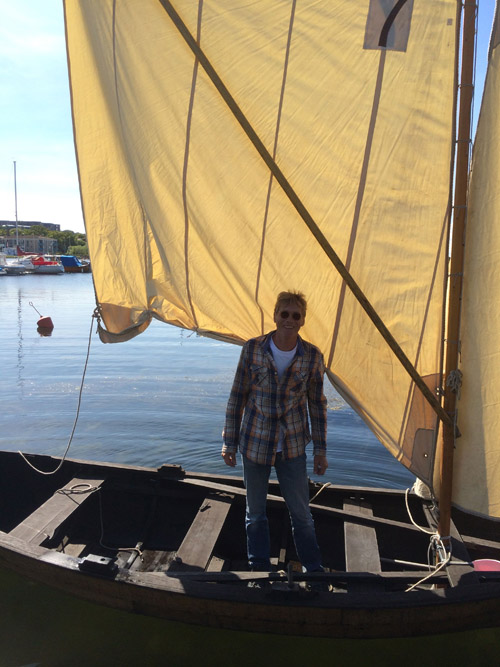 Johan took us out for a fantastic day on the water on his hand built wooden sailboat.