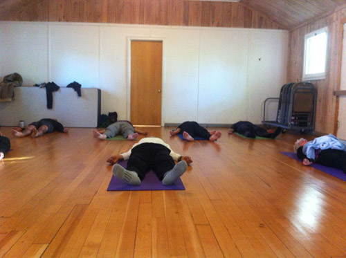Yoga for Paddlers is a great way to start the day.