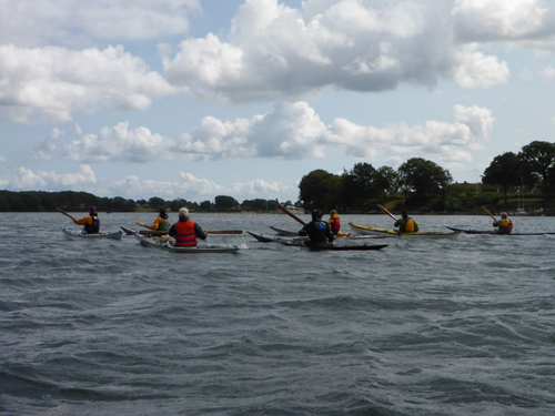 The Qajaq Immersion Day included stroke instruction, and the group enjoyed a paddle around several of Svendborg's islands.