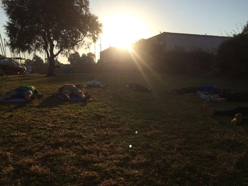 Each morning I ran Yoga for Paddlers before everyone met at the Club to separate into classes.