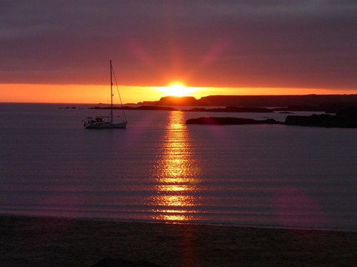 A gorgeous sunset on Trearddur bay Bay on Anglesey.