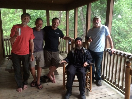 It was great hanging out with other presenters in my cabin and the one next door.