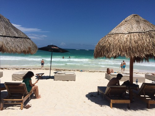 The airport was a four hour drive from Bacalar, and I left a day early with Lise and Steve (pictured previously in this blog) to relax for a night in the city of Tulum.