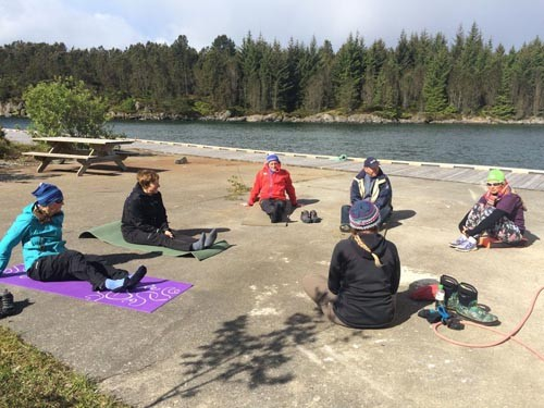 Sunday started with Yoga for Paddlers.