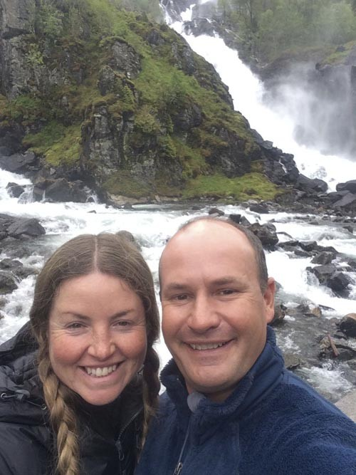 On our way out of Odda, we stopped to enjoy several roadside waterfalls.