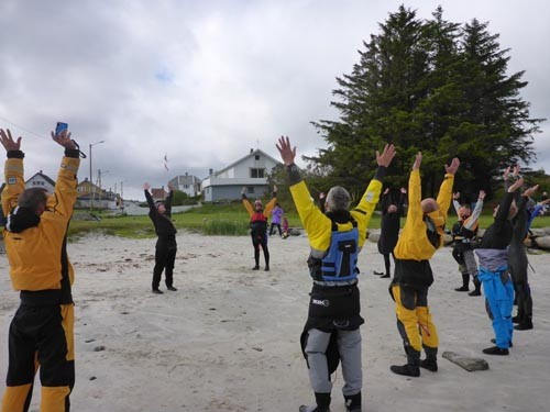 We started the class with a little Yoga for Paddlers.