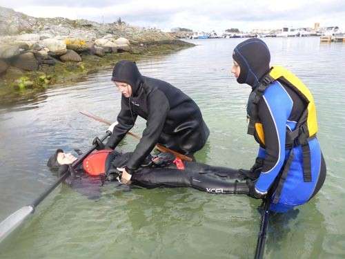 Then we headed into the water for some rolling instruction.