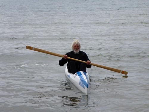 Erik tried out a surf ski.