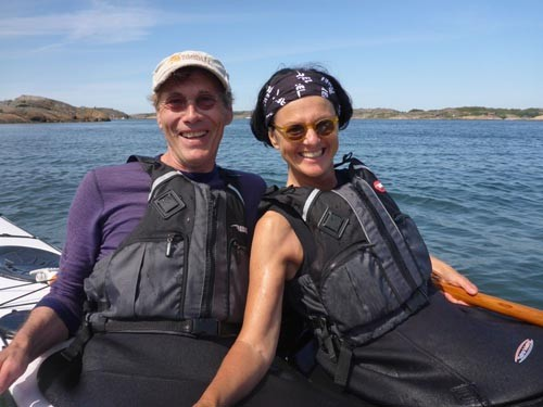 Johan Wirsen, owner of Rebel Kayaks, and Ann Hanbert stopped by for a visit.