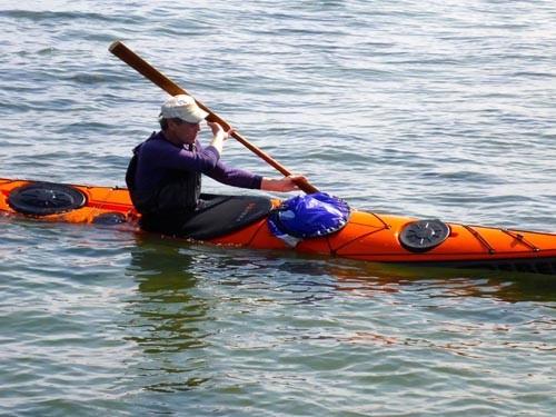 Johan plays around with his new kayak design, the Rebel Husky.