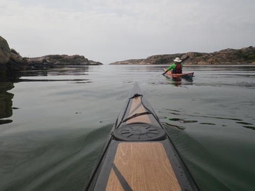The day after classes, Mark, Johan, Ann and I went for a paddle in the archipelago.