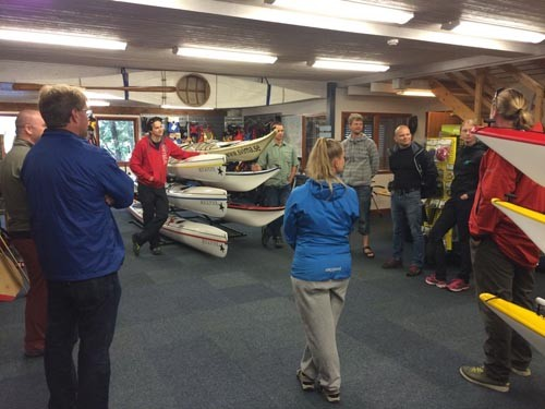 The ISKGA Incident Management class chatted in the shop before heading out onto the water.