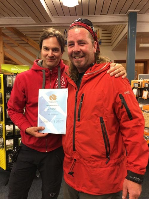 Daniel, owner of Svima, was presented with his ISKGA Advanced Guide certification, an award that he's worked incredibly hard for.