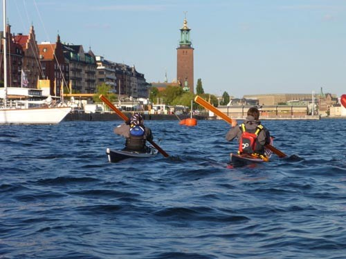 We enjoyed a relaxing paddle around Stockholm.