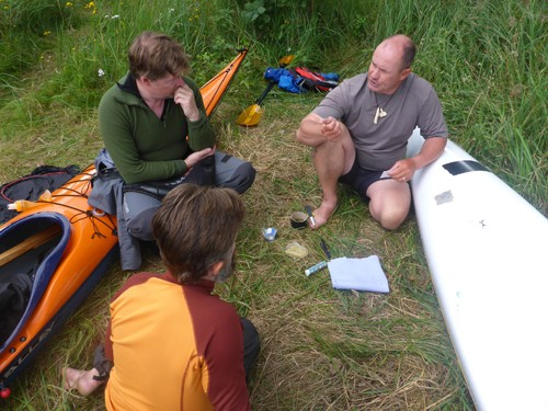 Participants also had the opportunity to learn how to repair a kayak in an emergency situation.