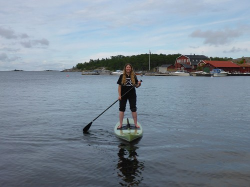 We had the opportunity to play with stand up paddle boards.