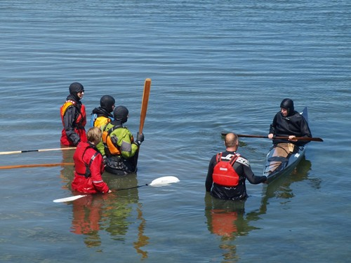 I taught two days of rolling classes in the warm lake.