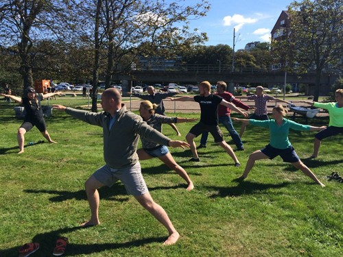 As part of the Instructor Development Workshop, I ran Yoga for Paddlers.