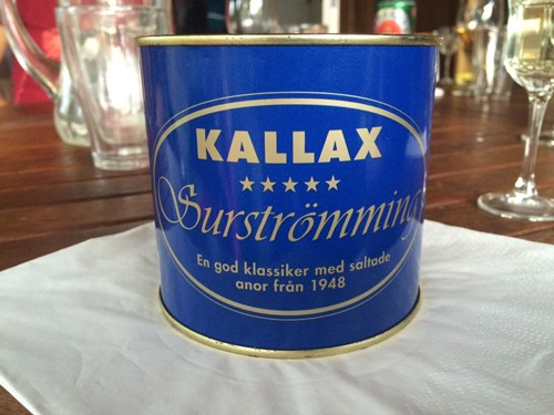 Much to my horror, Mark expressed an interest in trying Surstromming, fermented Baltic Sea herring potent enough to expand the can it comes in.