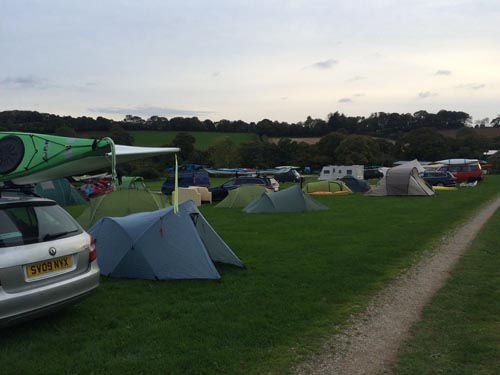 "Many of the participants camped at Tregedna Farm, which served as ""base camp"" for the event."